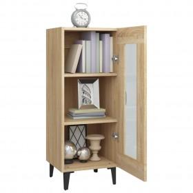dušas sistēma ar paneli, 25x44,6x130 cm, stikls, balta