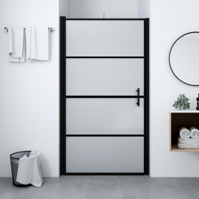 dušas durvis, matēts rūdītais stikls, 100x178 cm, melnas