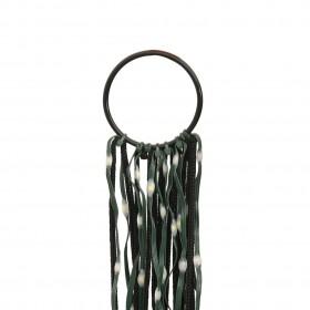 piepūšams vingrošanas paklājs ar pumpi, 400x100x15 cm, rozā PVC