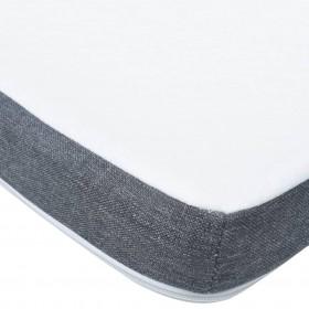 suņu dīvāns, pelēks, 60x43x30 cm, plīšs, mākslīgā āda
