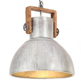 griestu lampa, industriāls dizains, sudrabaina, 25 W, 40cm, E27