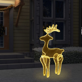 Ziemassvētku dekorācija, ziemeļbriedis, 306 LED, 60x24x89 cm