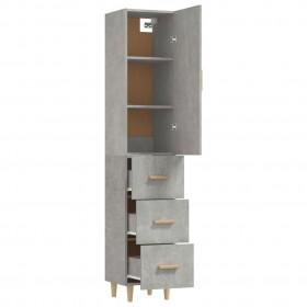 plaukts tualetes podam, 3 plaukti, melns, 53x28x169 cm