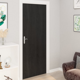 durvju līmplēves, 2 gab., tumša koka krāsa, 210x90 cm, PVC