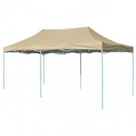saliekama telts, 3x6 m, ātri uzstādāma, krēmbalta