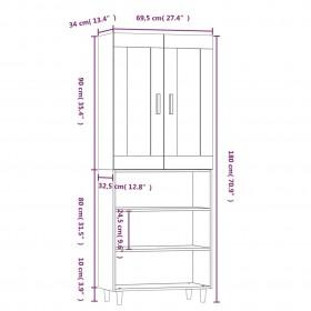 ieroču kaste, 134x35x12 cm, alumīnijs, melna
