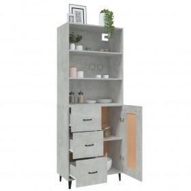 vannasistabas mēbeļu komplekts, spīdīgi balts, skaidu plāksne