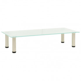 TV galdiņš, 80x35x17 cm, rūdīts stikls, matēts