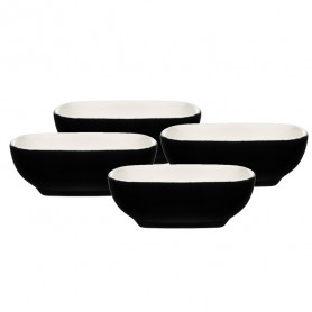 Bļoda mērcei Maku keramikas, 2.5x7cm melna 4gab.Max 200°C