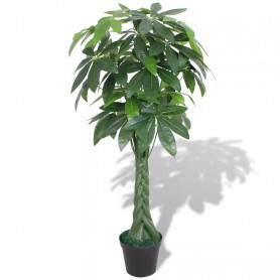 mākslīgais augs, naudas koks ar podu, 145 cm, zaļš