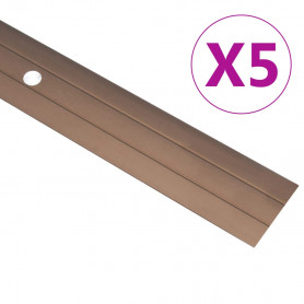 kāpņu profili, 5 gab., 134 cm, brūns alumīnijs