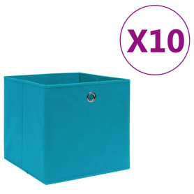 uzglabāšanas kastes, 10 gab., 28x28x28 cm, zilgans audums