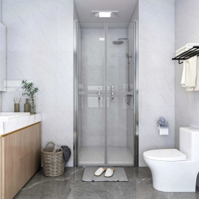 dušas durvis, 91x190 cm, ESG, caurspīdīgas