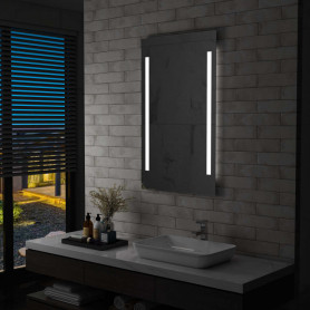 vannasistabas spogulis ar LED, 60x100 cm