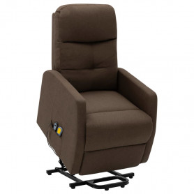 masāžas krēsls, paceļams, brūns audums
