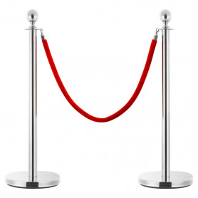 barjeras virve, sarkanā un sudraba krāsā, samts