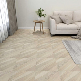 grīdas flīzes, 55 gab., pašlīmējošas, 5,11 m², PVC, bēšas