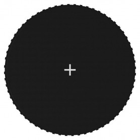 batuta lēkājamā virsma, melns audums, 3,66 m, apaļam batutam