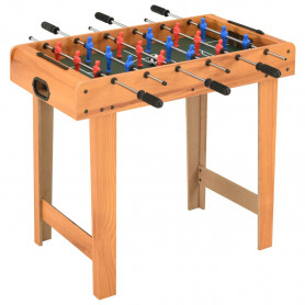 mini galda futbols, kļavas koka krāsa, 69x37x62 cm