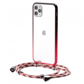 Transparent Baseus Protective Case for iPhone 11 Pro (red)