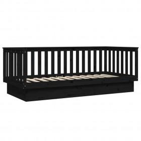 sienas spogulis, taisnstūra, 50x80 cm, melns