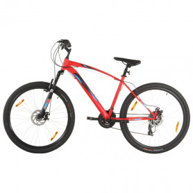 kalnu velosipēds, 21 ātrums, 29'', 48 cm rāmis, sarkans