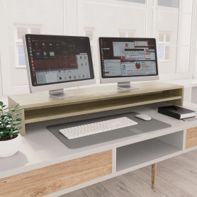 monitora paliktnis, 100x24x13cm, skaidu plāksne, ozolkoka krāsā