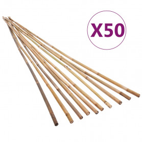 dārza bambusa mietiņi, 50 gab., 170 cm
