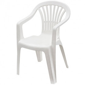 Krēsls Altea plastm.,balts