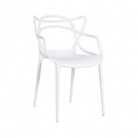 Krēsls BUTTERFLY 55x55xH55/83cm balts