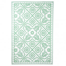 Esschert Design āra paklājs, 182x122 cm, zaļš un balts