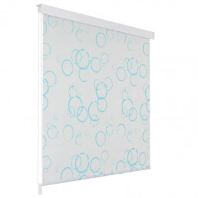 rullo žalūzija dušai, 120x240 cm, burbuļu dizains