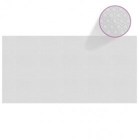 baseina pārklājs, solārs, peldošs, 975x488 cm, pelēks PE