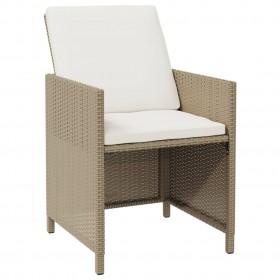 virtuves galds un 6 krēsli, brūna mākslīgā āda