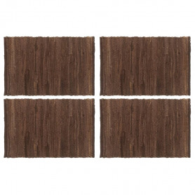 Chindi galda paliktņi, 4 gab., brūni, 30x45 cm, kokvilna