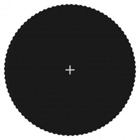 batuta lēkājamā virsma, melns audums, 4,57 m, apaļa