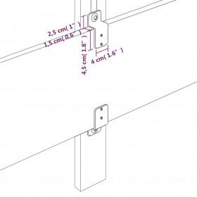 paklājs, 150x220 cm, melns govs raksts