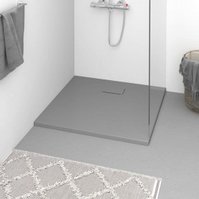 dušas pamatne, 90x80 cm, SMC, pelēka