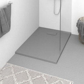 dušas pamatne, 100x70 cm, SMC, pelēka