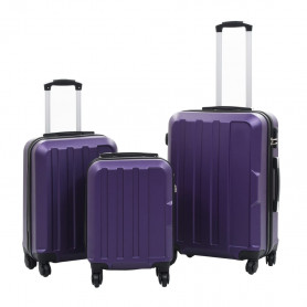 cieto koferu komplekts, 3 gab., ABS, violets