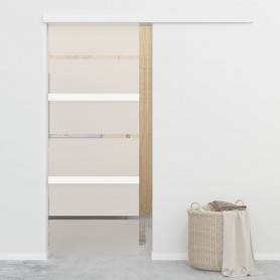 bīdāmās durvis, ESG stikls un alumīnijs, 76x205 cm