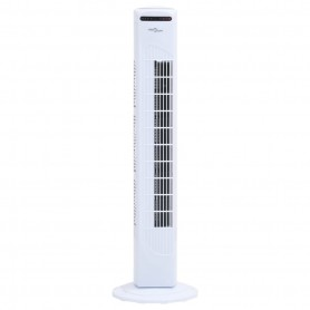 torņa ventilators, tālvadības pults, taimeris, Φ24x80 cm, balts