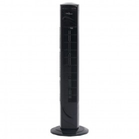 torņa ventilators, tālvadības pults, taimeris, Φ24x80 cm, melns