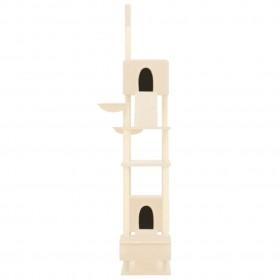 griestu ventilators ar lampu, 76 cm, gaiši brūns