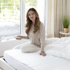 mākslīgā Ziemassvētku egle ar statīvu, zila, 150 cm, PVC