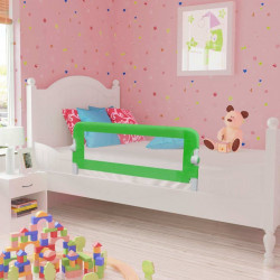 vidaXL bērnu gultas aizsargbarjeras, 2 gab., zaļas, 102x42 cm