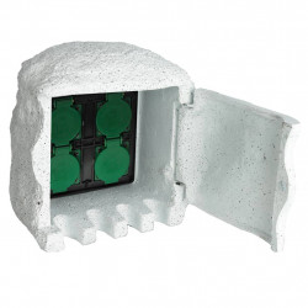 Pagarinātājs Dārzam 4 Rozetes, 1,5 m vads, ūdens necaurlaidīga apdare